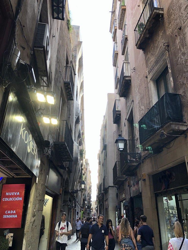 バルセロナの狭い路地2