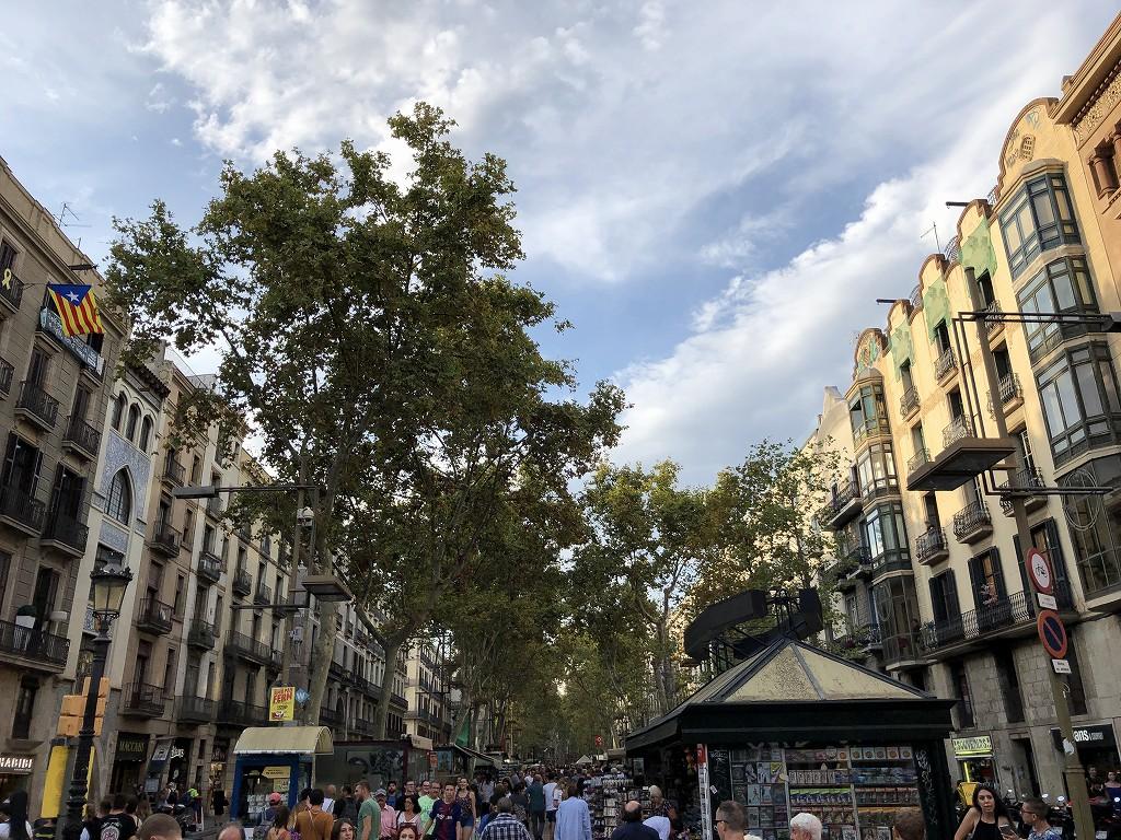 バルセロナのランブラス通り