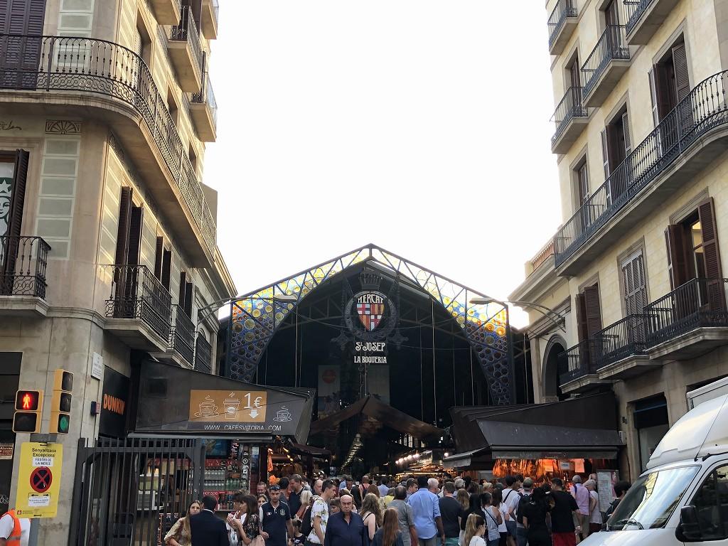 バルセロナのボケリア市場1
