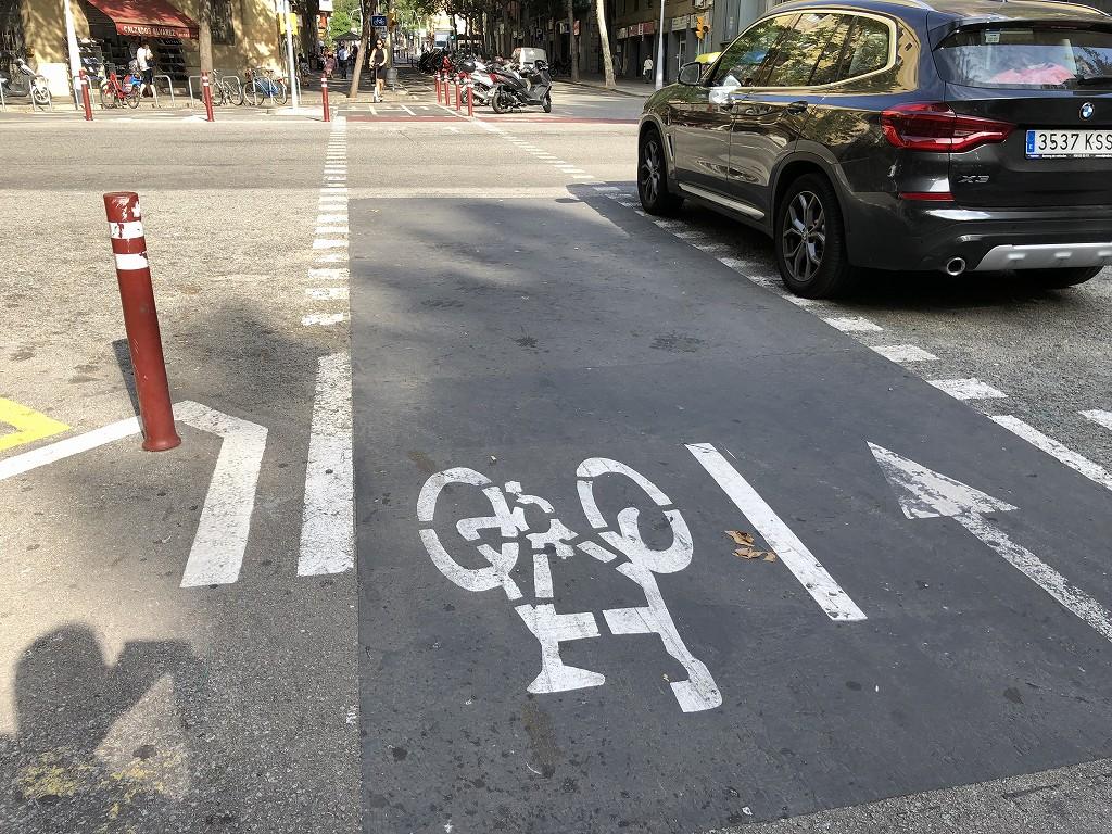 バルセロナの自転車専用レーン