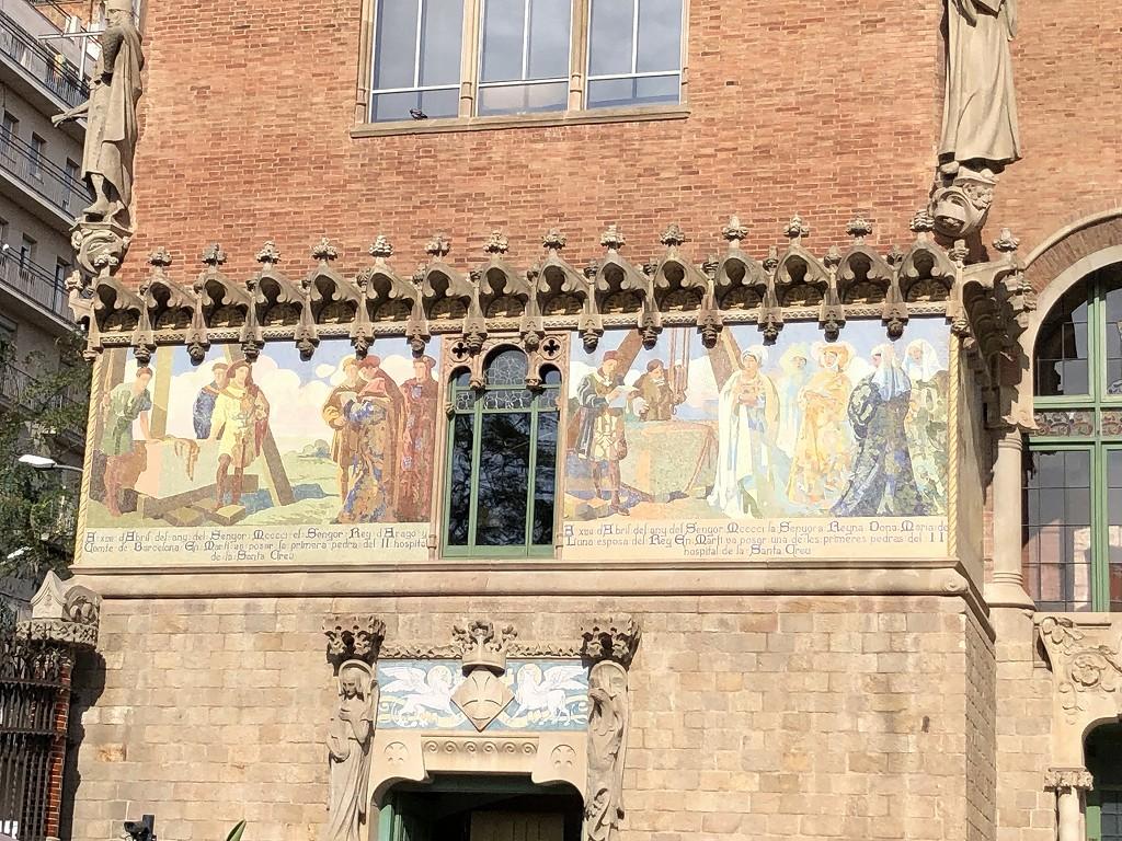 サン・パウ病院の壁画1
