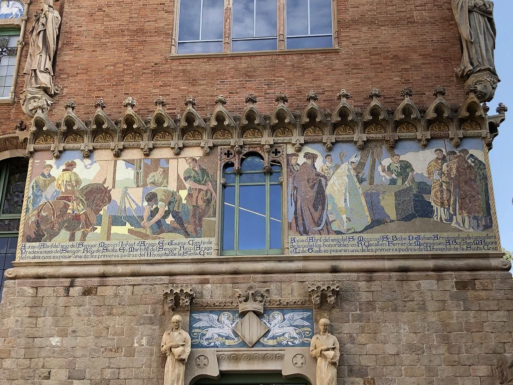サン・パウ病院の壁画2