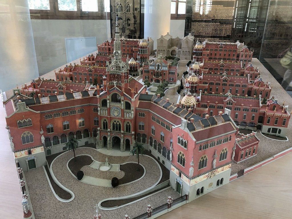 サン・パウ病院の模型