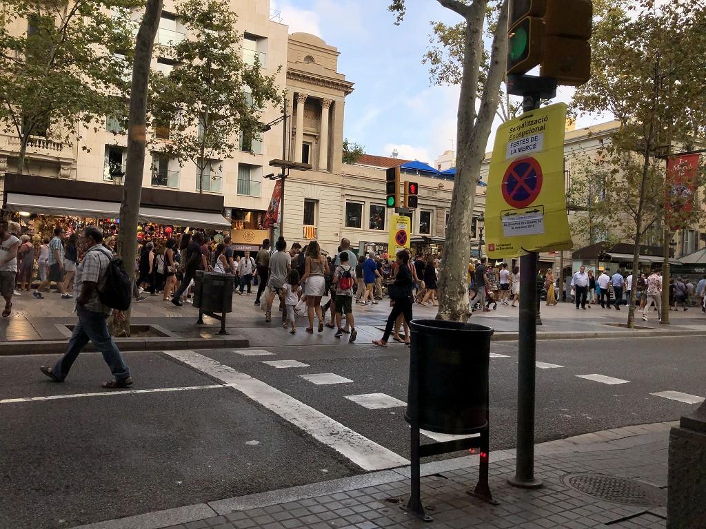 ル・メリディアン バルセロナのからランブラス通り