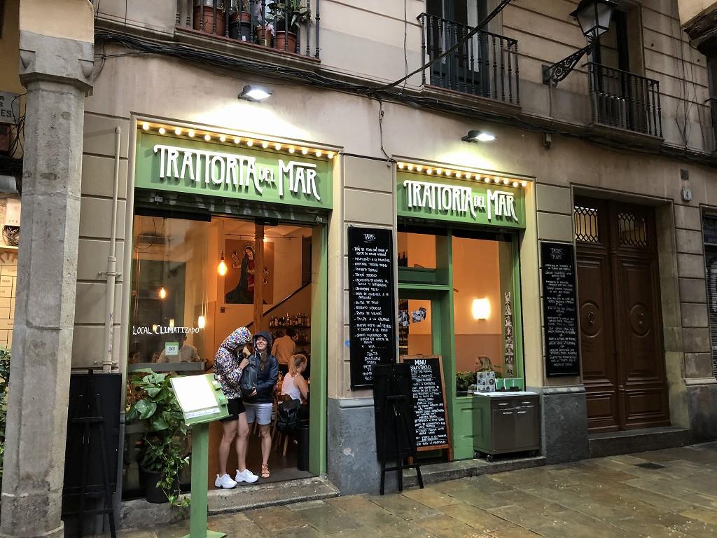 バルセロナのトラットリア・デル・マルの外観
