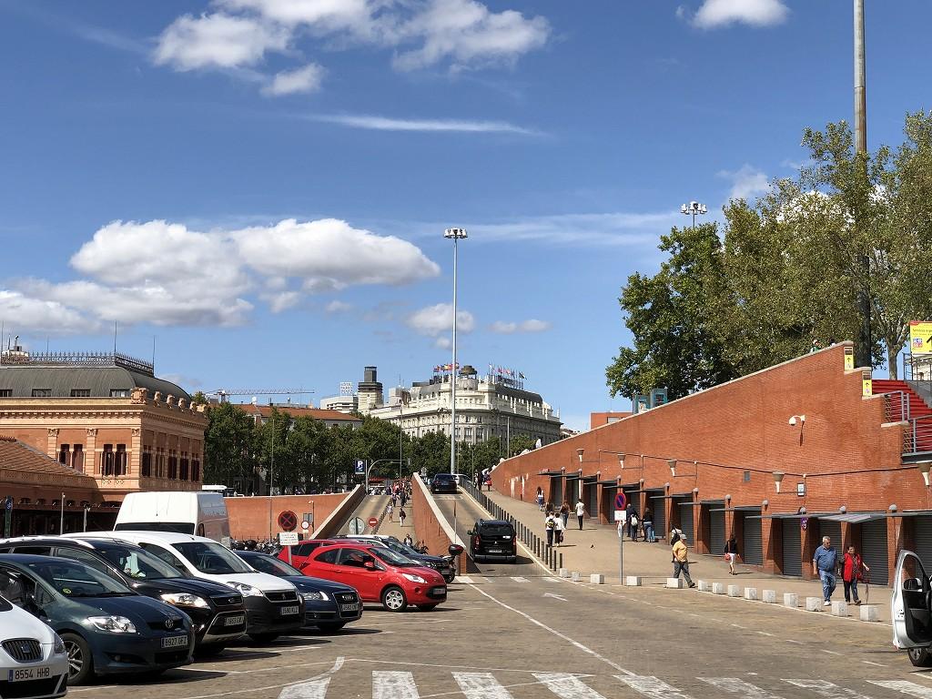 マドリード・アトーチャ駅からの眺め