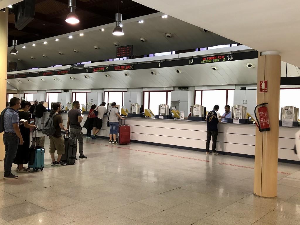 マドリード・アトーチャ駅のAVEのチケット売り場