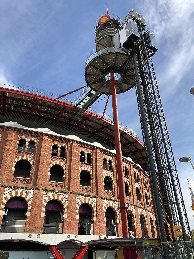 バルセロナの旧闘牛場のエレベーター