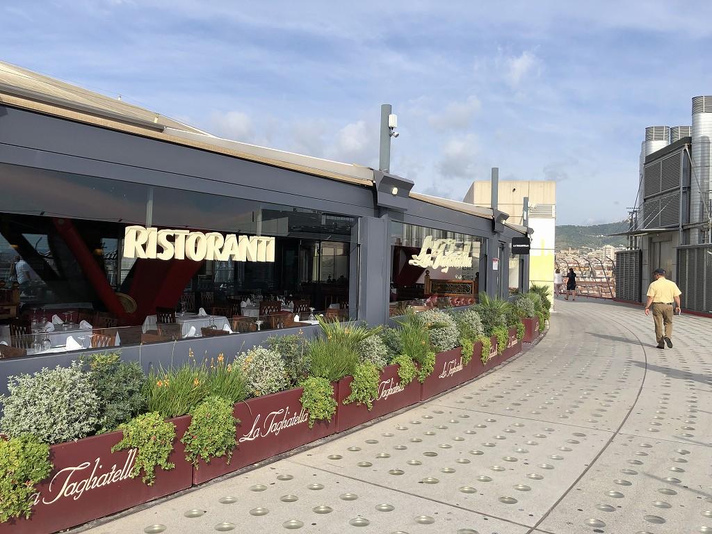 バルセロナの旧闘牛場の屋上のレストラン