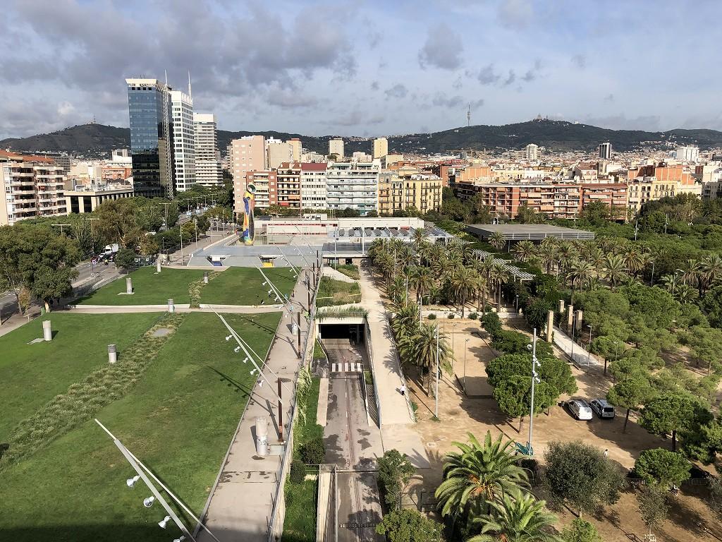 バルセロナの旧闘牛場からミロ公園1