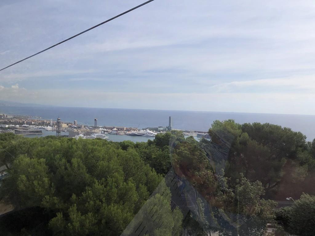 モンジュイック城へ行くゴンドラからの眺め2