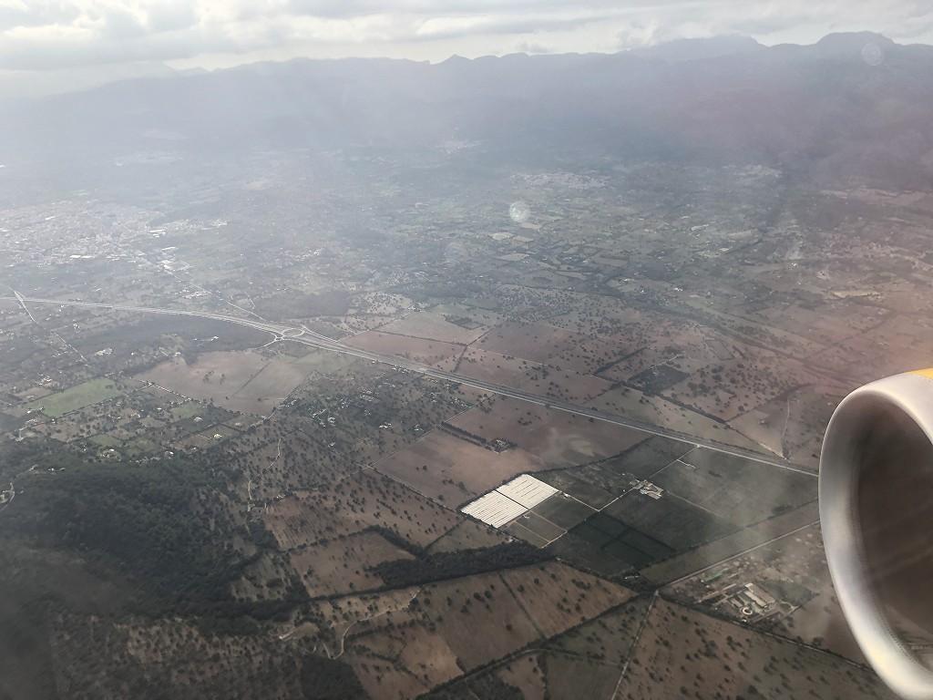 マヨルカ島上空のブエリング航空VY3908便2