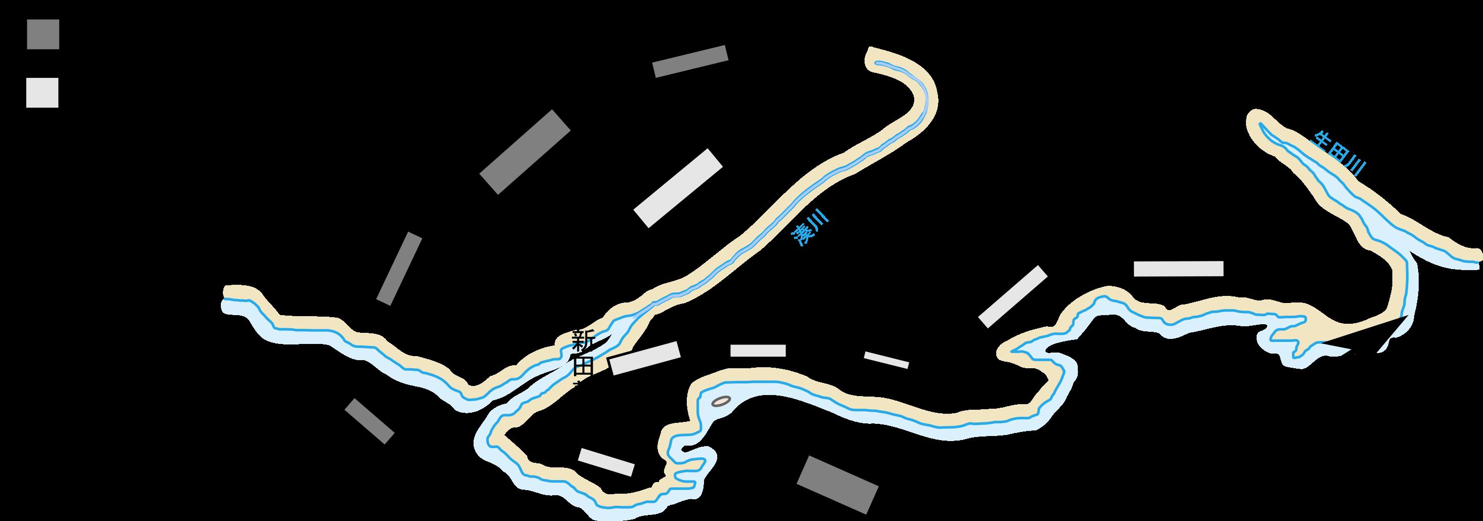 「湊川の戦い」の布陣図