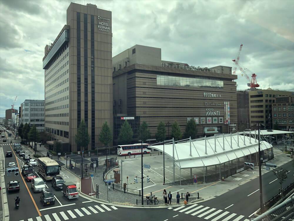 京都駅前のビル