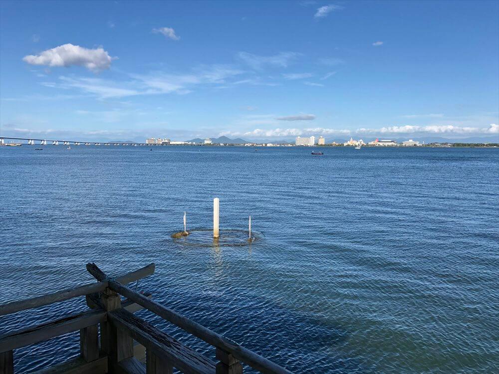 浮御堂から琵琶湖マリオットホテル方面