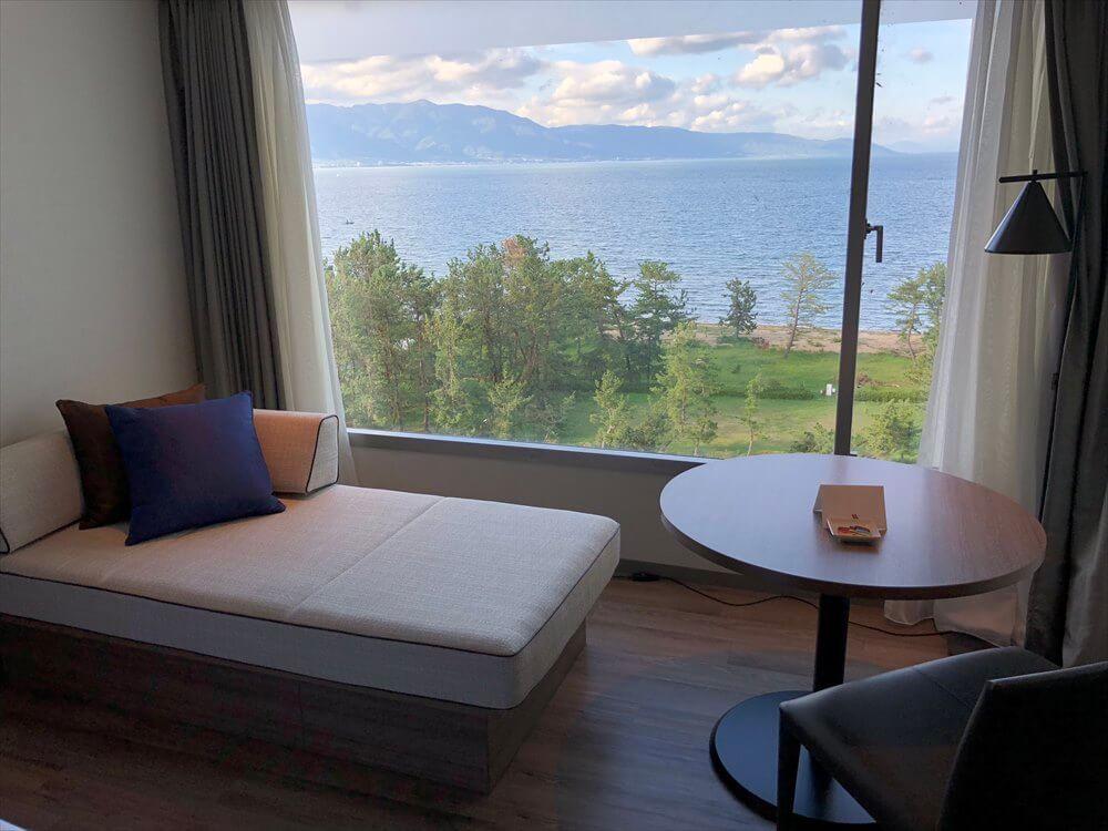 琵琶湖マリオットホテルのデラックスルーム2