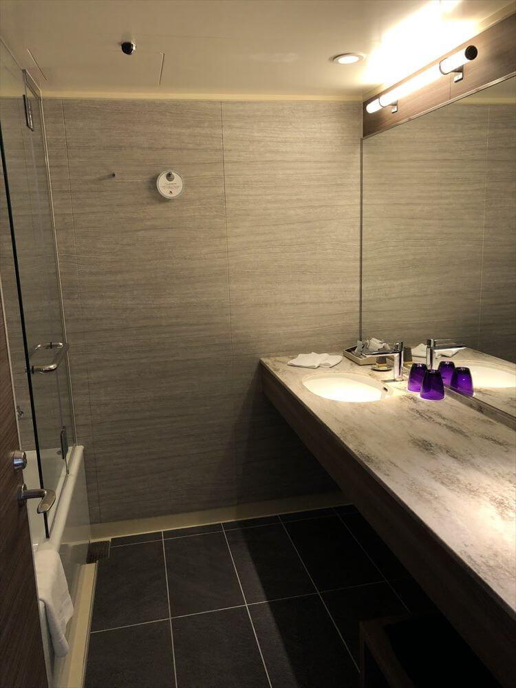 琵琶湖マリオットホテルのデラックスルームのバスルーム1
