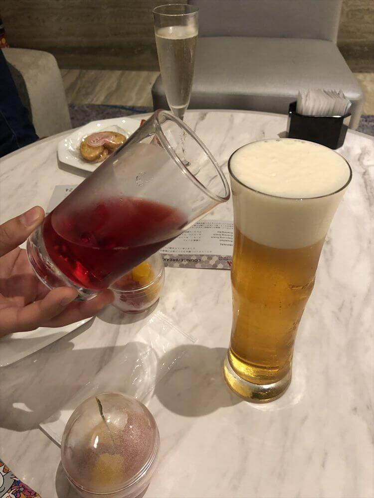 琵琶湖マリオットホテルのイブニングバーのビール