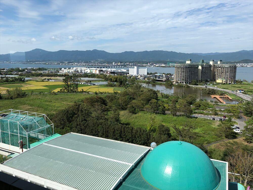 琵琶湖マリオットホテルの朝食会場からのピエリ守山1