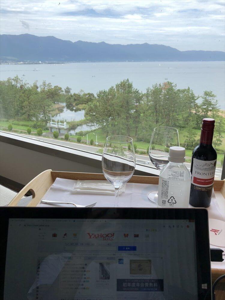 琵琶湖マリオットホテルでのんびり
