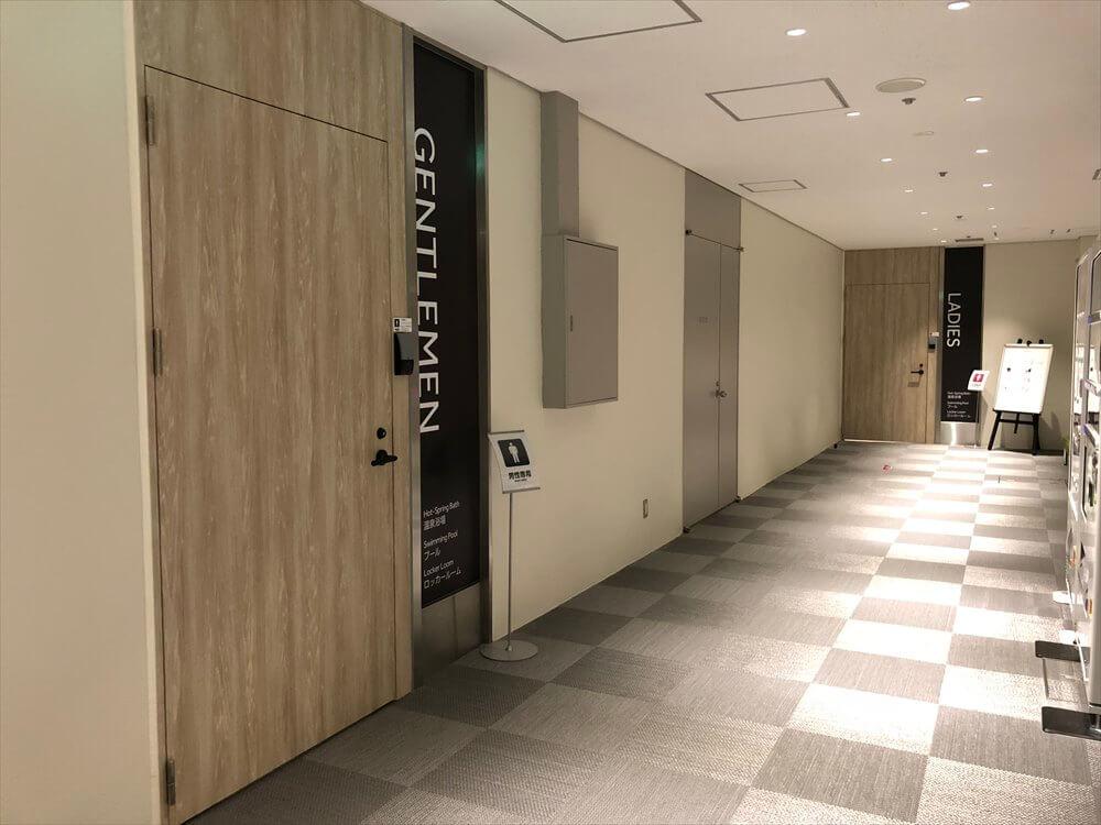 琵琶湖マリオットホテルの温泉浴場の入口1