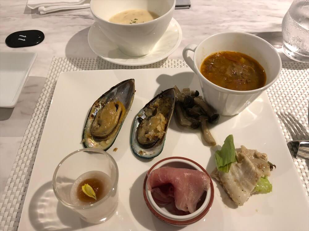 琵琶湖マリオットホテルのGrill Dining Gでディナー