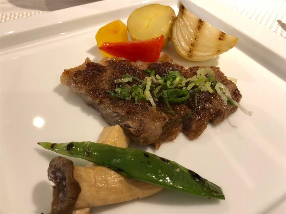 琵琶湖マリオットホテルのGrill Dining Gで近江牛のステーキ