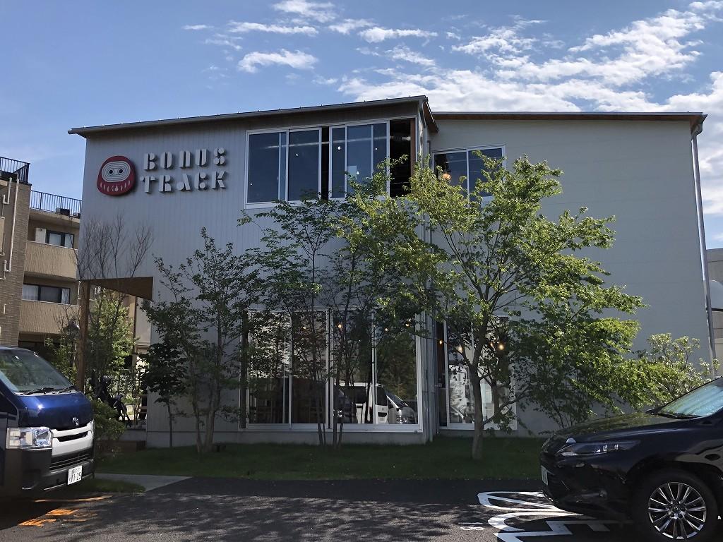 BONUS TRACK商業棟の外観