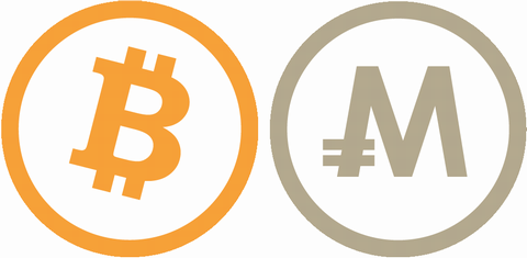 ビットコインとモナコインのイメージ