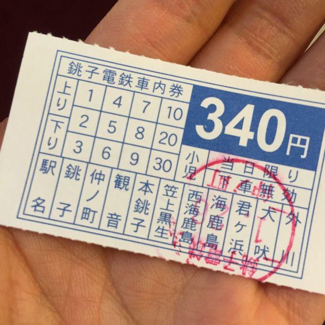 銚子電鉄車内券