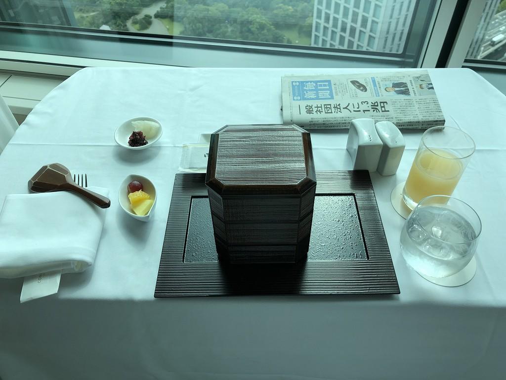 コンラッド東京のインルームダイニングの和朝食1