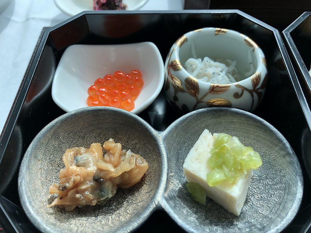 コンラッド東京のインルームダイニングの和朝食4