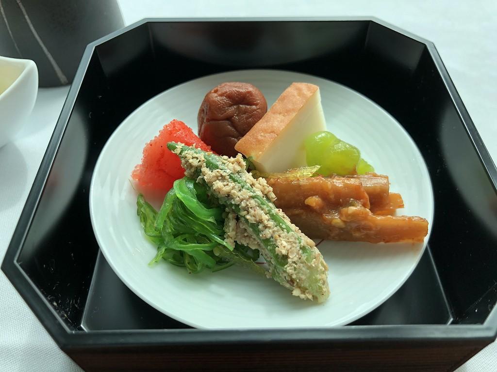 コンラッド東京のインルームダイニングの和朝食6
