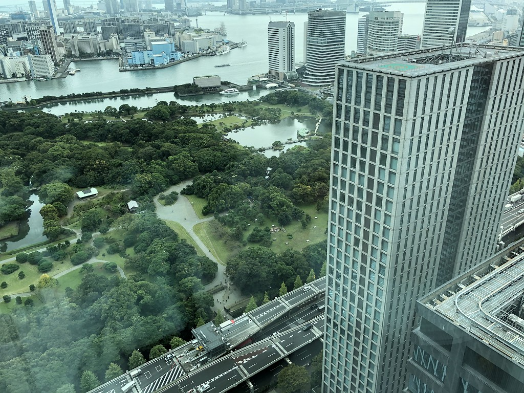 コンラッド東京「エグゼクティブベイビュースイートキング」から浜離宮3