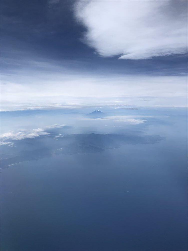 CX548便ファーストクラスからの富士山