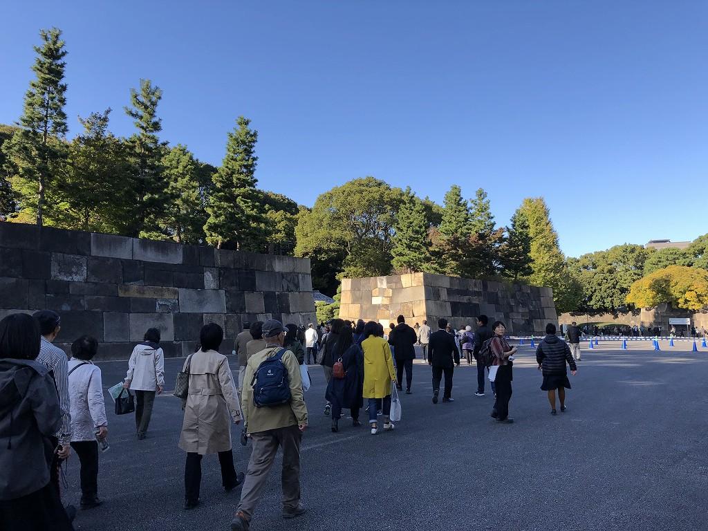 江戸城の中の門の石垣1