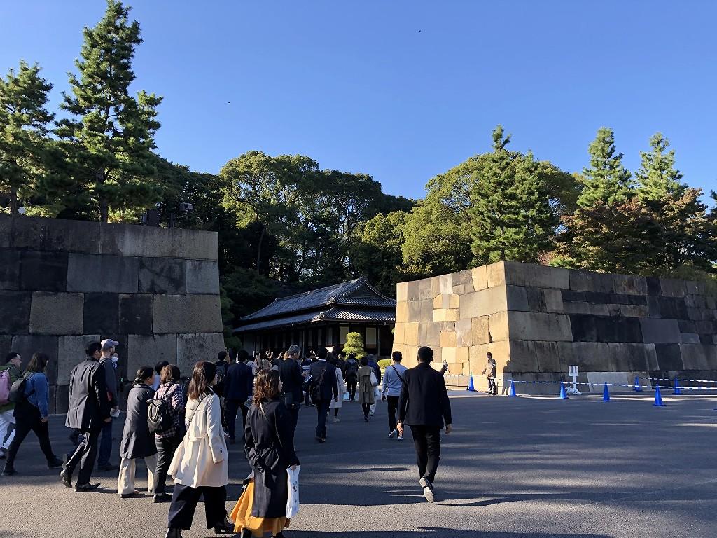 江戸城の中の門の石垣2