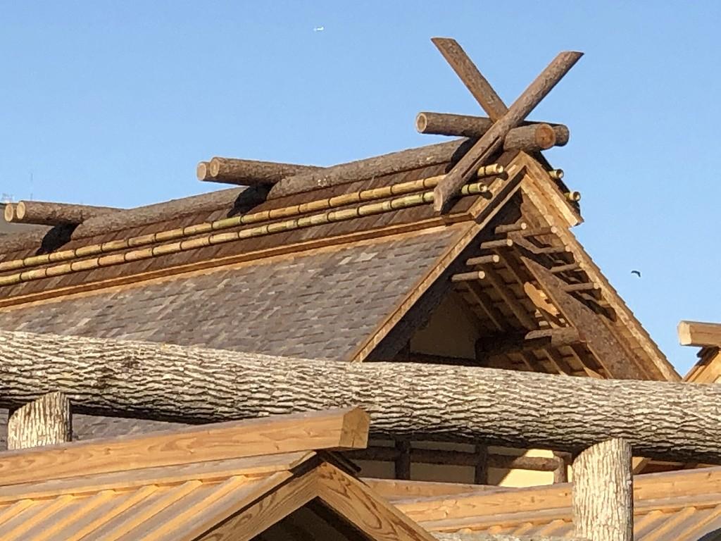 大嘗宮の悠紀殿の千木・鰹木