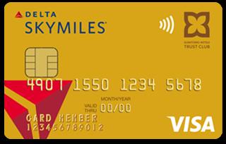 デルタ スカイマイル TRUST CLUB ゴールドVISAカード券面デザイン