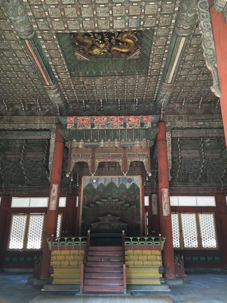 徳寿宮の中和殿の天井の双龍
