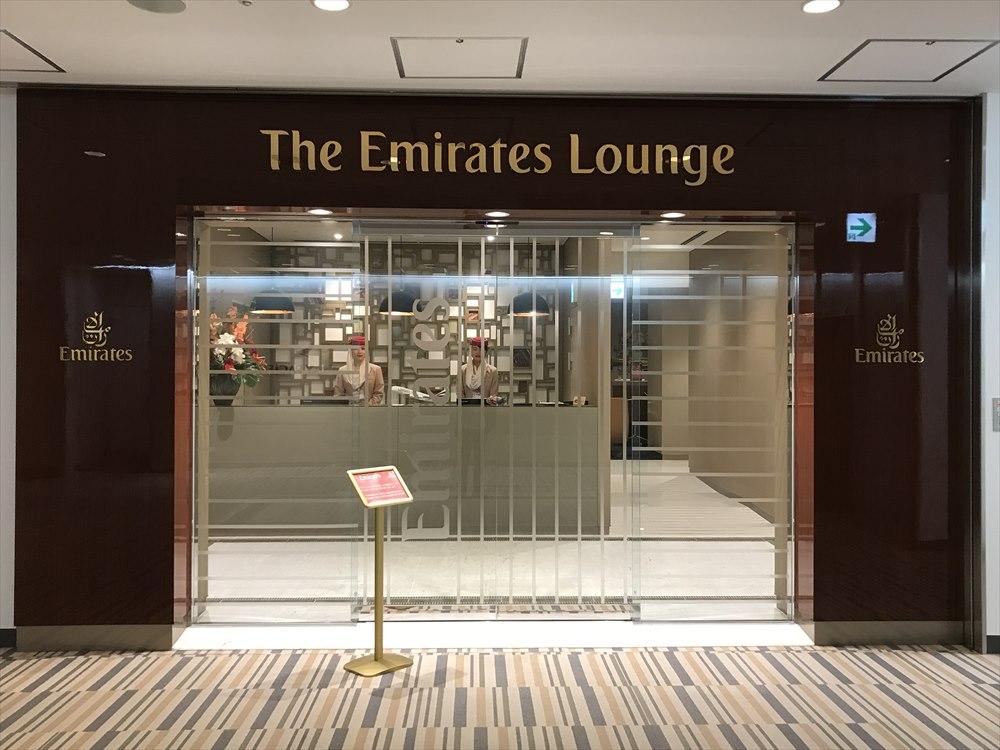 成田空港のエミレーツラウンジ