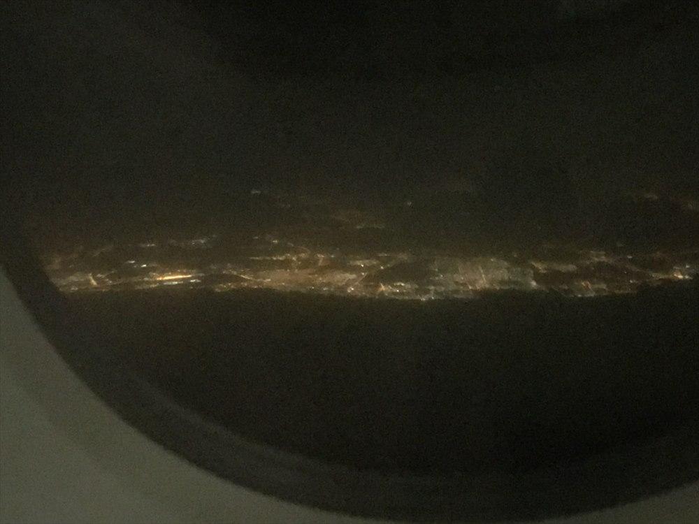 アラビア湾沿岸の都市の光