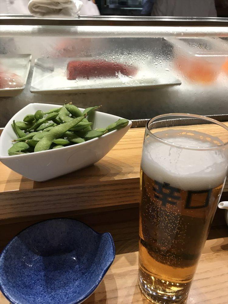 NOBUでビール