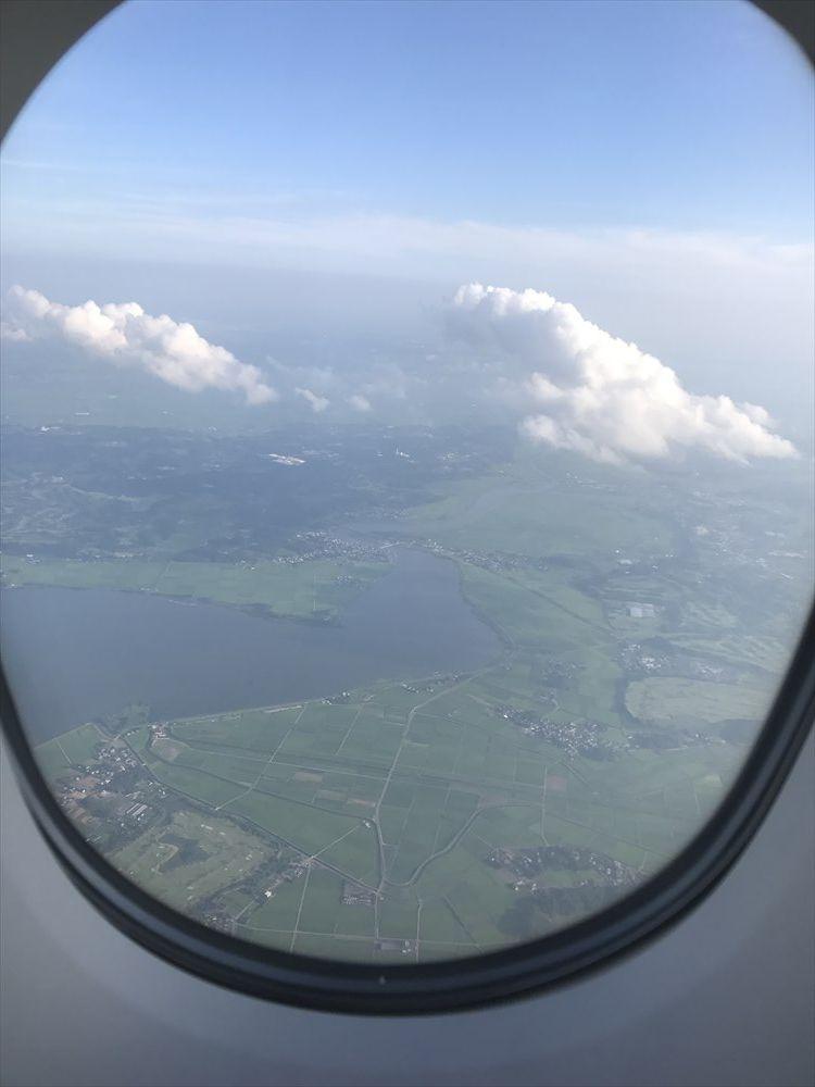 飛行機から霞ヶ浦