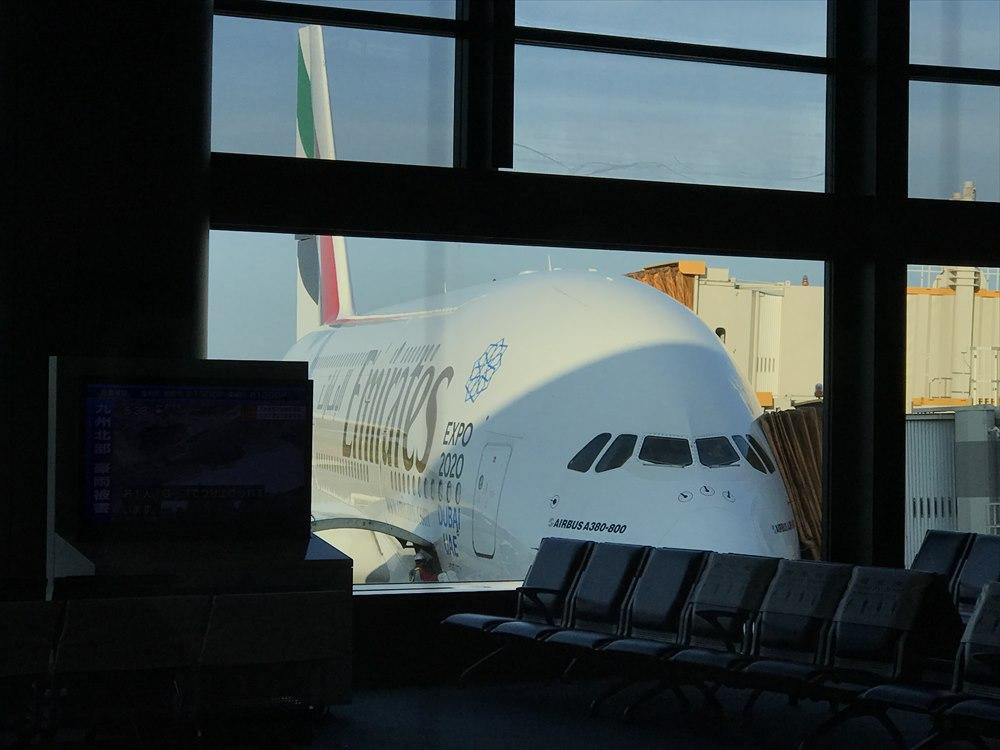 エミレーツEK318便のエアバスA380