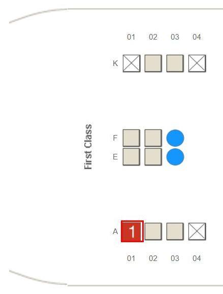 オンラインチェック後のエミレーツ航空の座席指定