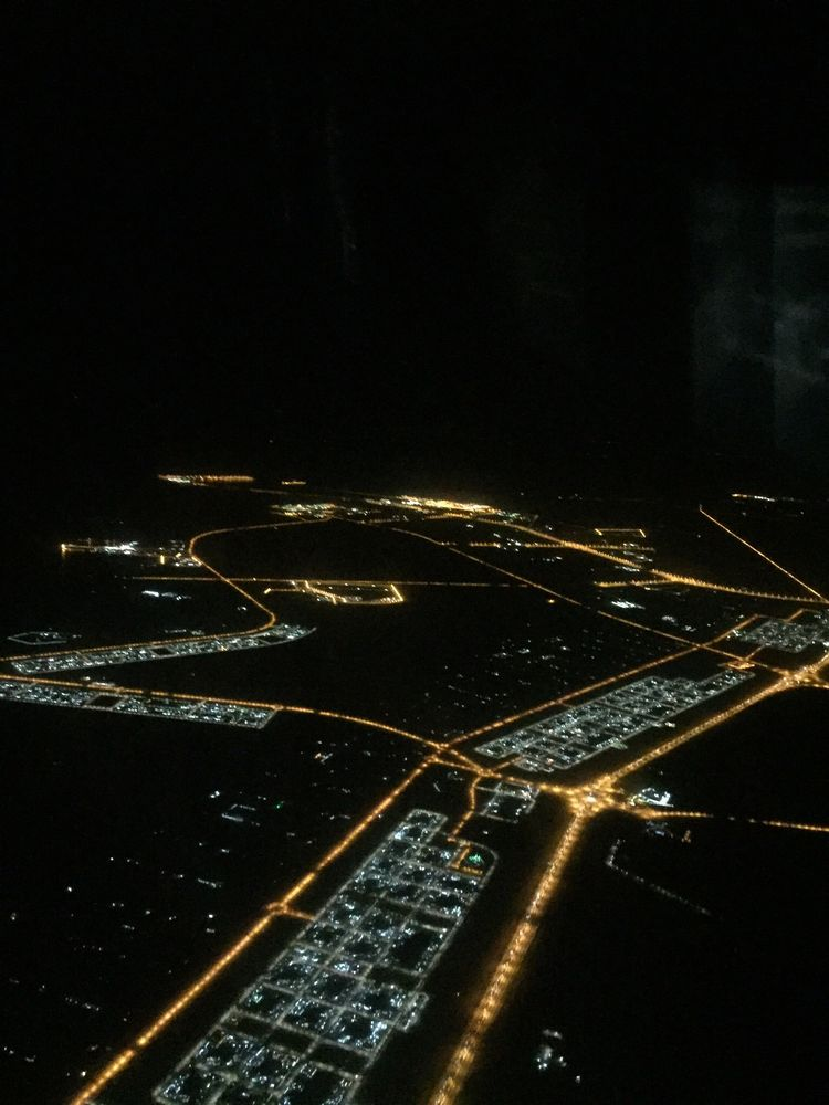 EY878からの夜景