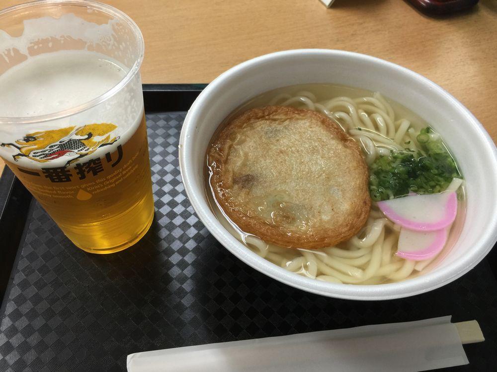 福岡空港売店のうどん画像
