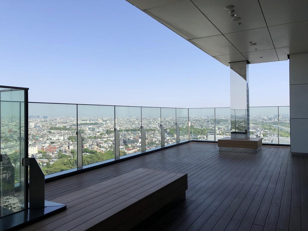 二子玉川エクセルホテル東急のテラスからの眺め1