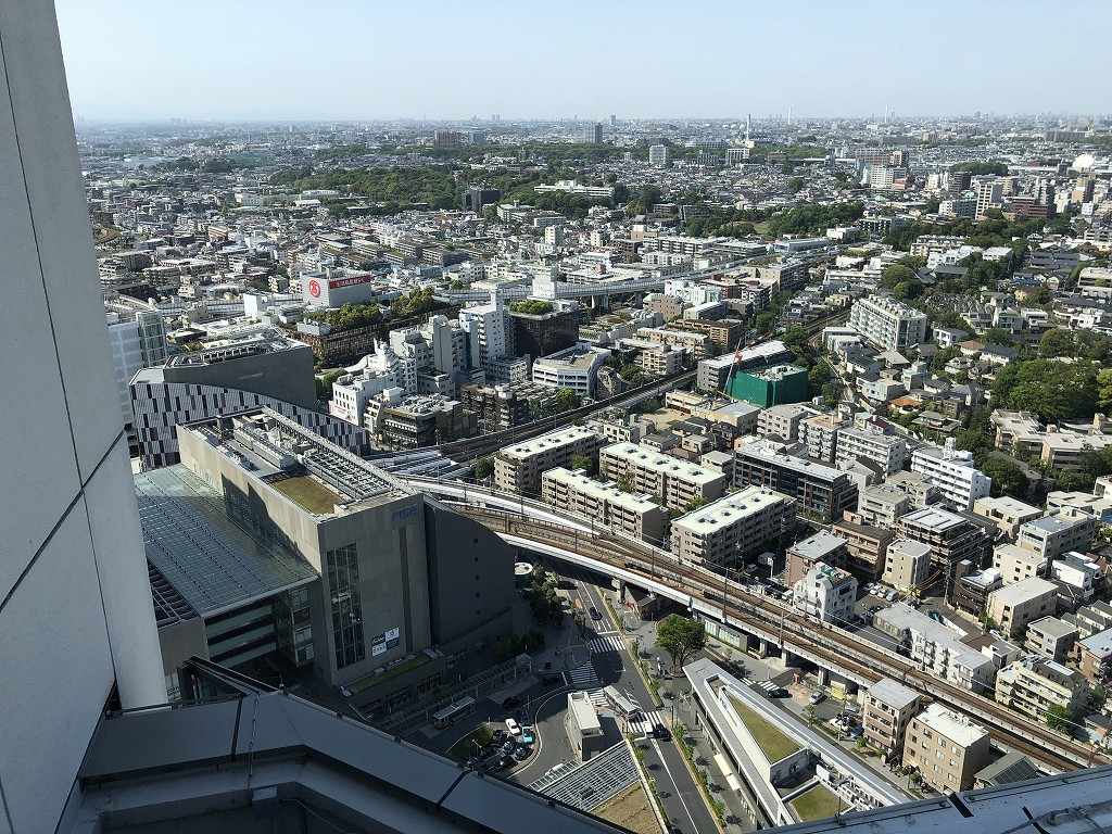 二子玉川エクセルホテル東急のテラスからの眺め4